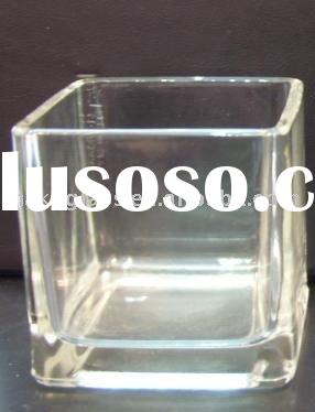 square glass jar/glass pot/candle holder