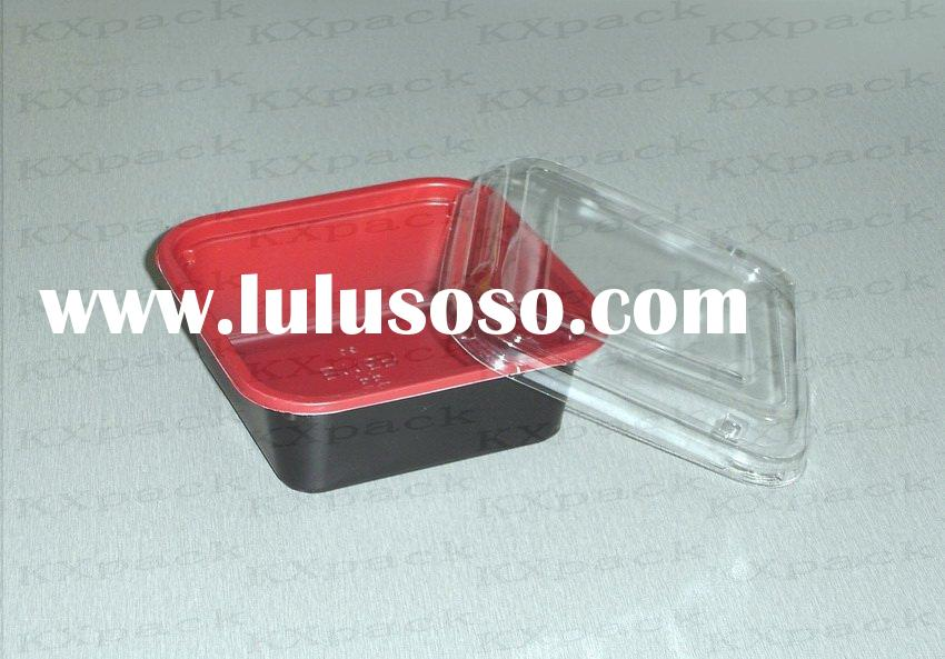 square plastic bowl with lid