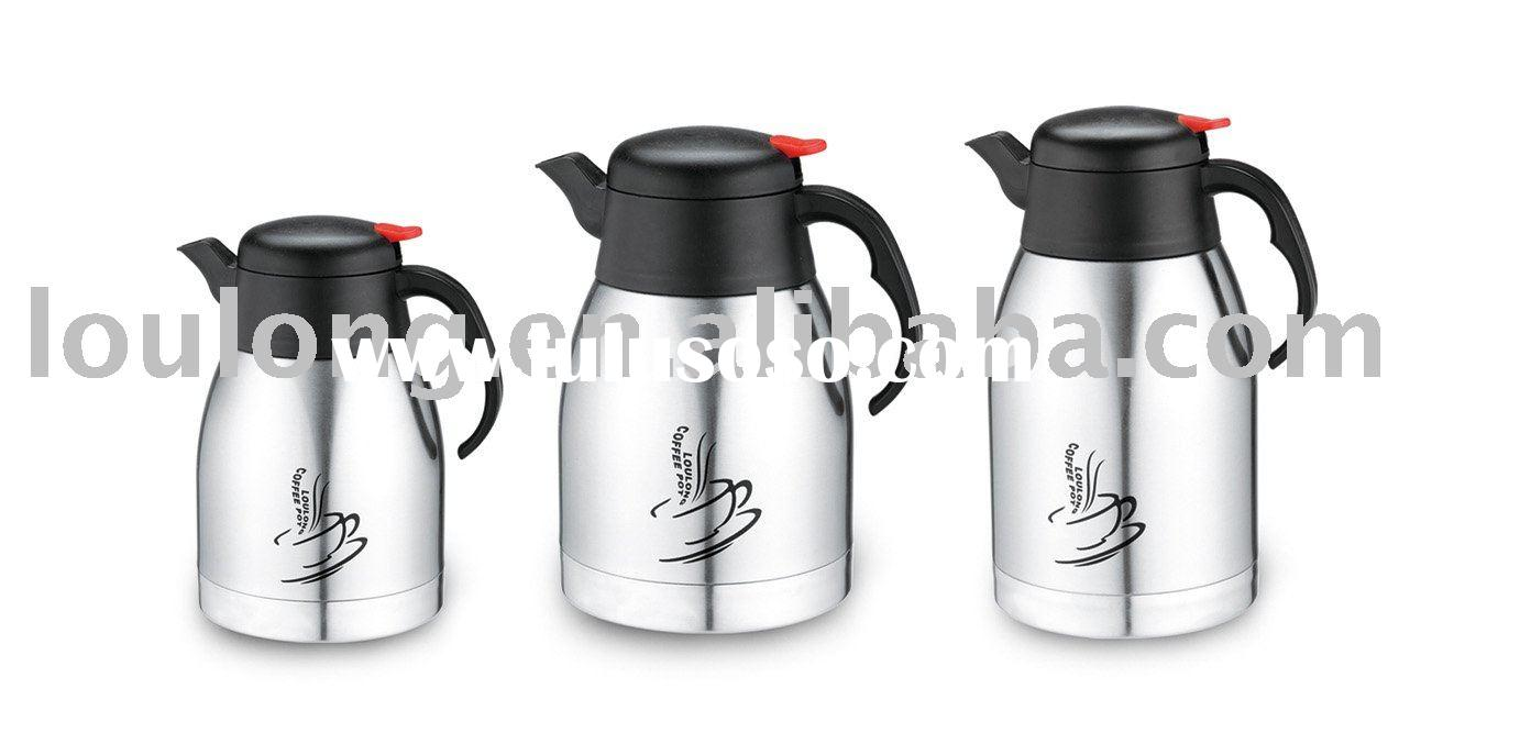 stainless steel coffee pot/coffee carafe/vacuum coffee kettle/thermos bottle/vacuum pot