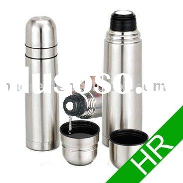 stainless steel thermos flask with 2 coffee mugs/cups