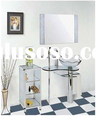 tempered glass vanity, console glass vanity sinks, drop-in bowls vanity, over counter glass vanity,