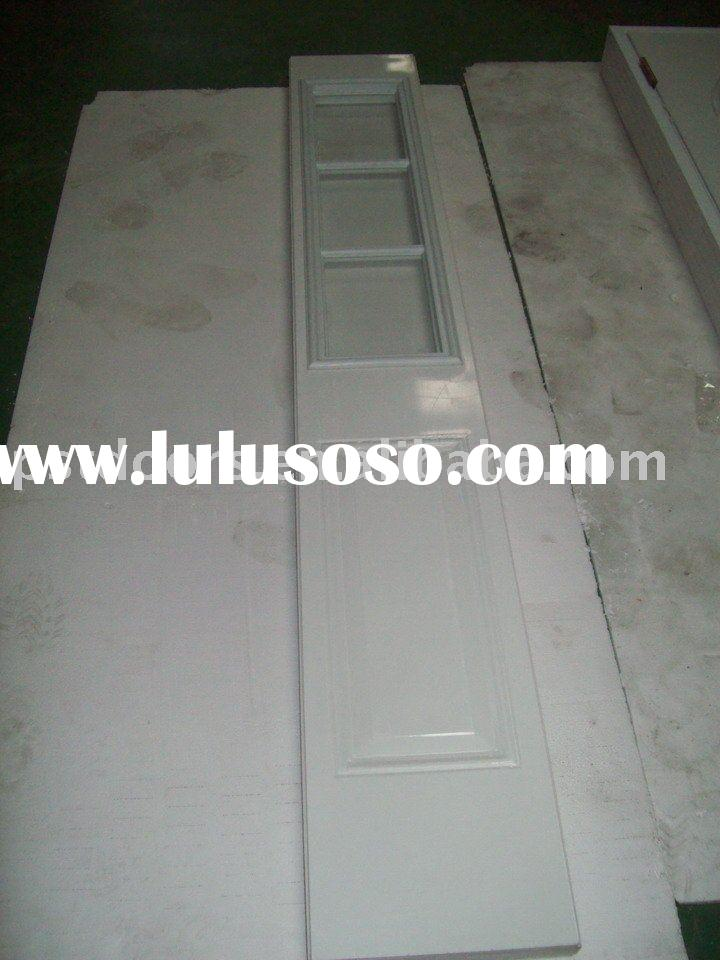 three quarter glass steel door with white color