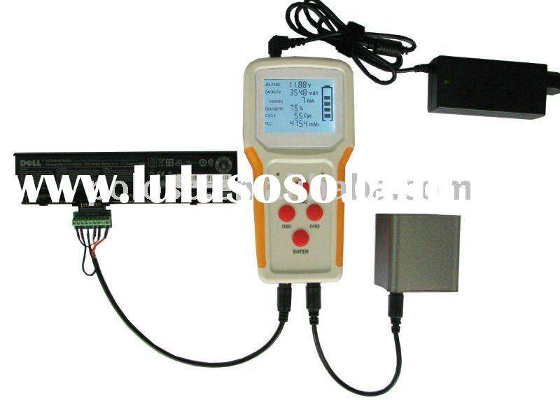 universal external laptop battery tester and charger with test charge discharge function