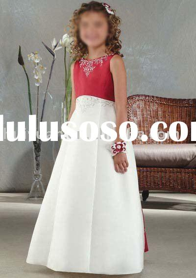 white and red kids dress