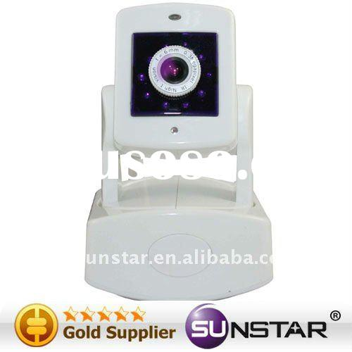 wireless GSM Burglar Alarm Home system Network Camera with Bi-directional Audio Communication and Un