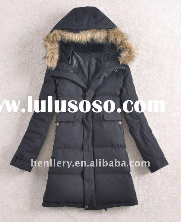 women fashion and medium length down feather winter coats