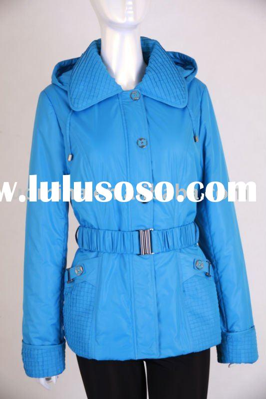 women`s fashion down feather coat/winter coat with really fur collar in 2011-2012