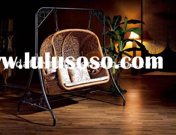 wooden outdoor furniture Natural Indonesia rattan Swing chair