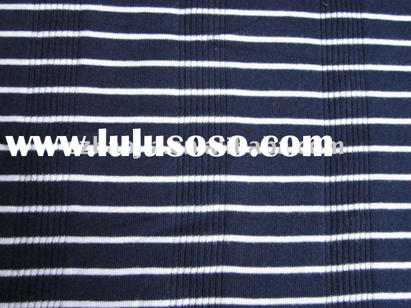 100% Cotton Color-stripe Varigated Rib Fabric
