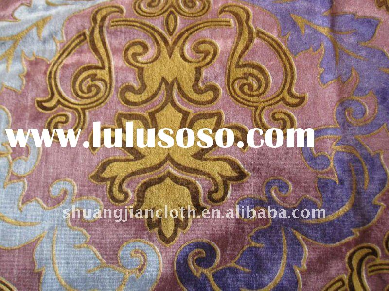 100% Polyester Woven Velvet Fabric-For Sofa, Curtain Upholstery Fabric