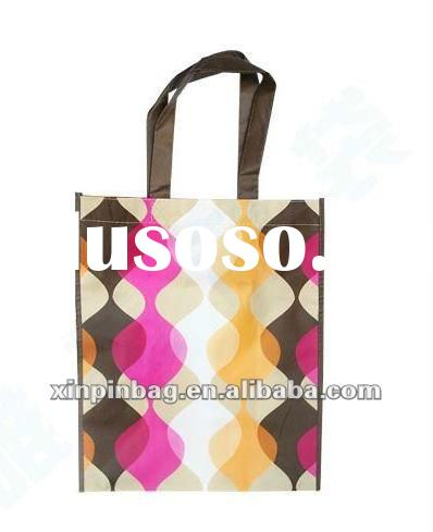 100% biological diversity Customized non-woven shopping bag with opp laminated