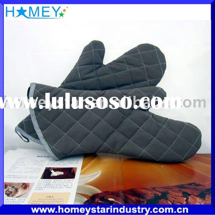 100% cotton fire-proof oven mitts