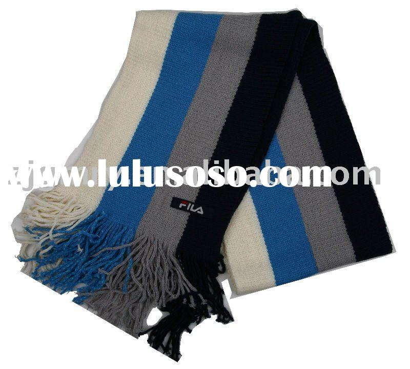 100% cotton knitted scarves