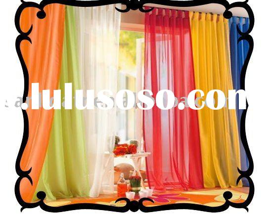 100% polyester Fire Retardant lined voile curtain fabric