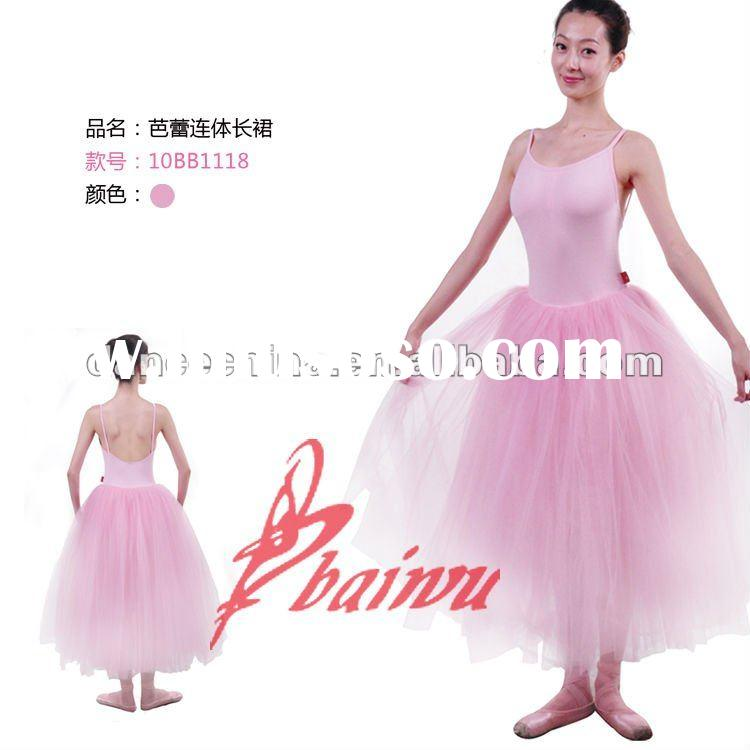 10BB1118 Women Long Ballet Skirts with Lace,Tutu