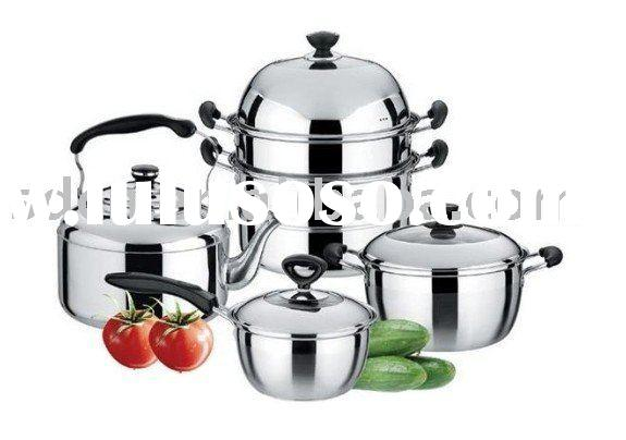 10 Pieces Stainless Steel Cookware Set