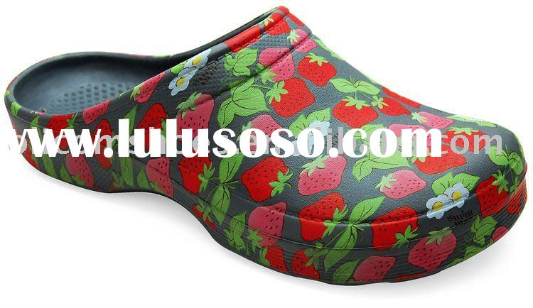 2011 hot sell eva painted garden clogs shoes