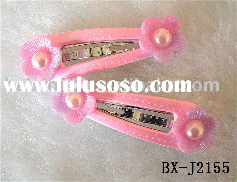 2011 latest fashion flower&perl hair clips for girls