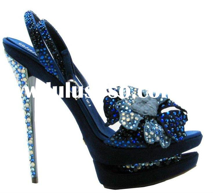 2011 new design Italian brand high heel fashion black party shoes wholesale/retail