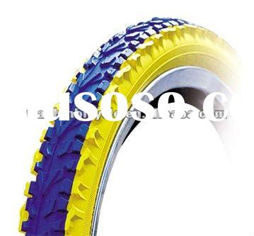 2011 popular blue with yellow line bicycle tire