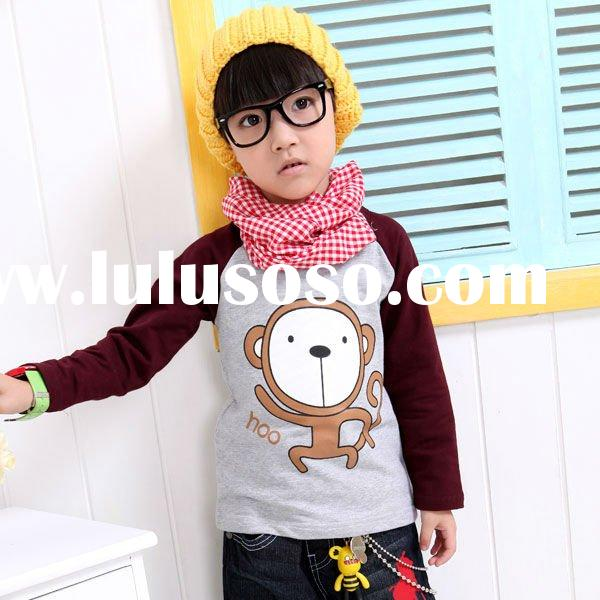 2011new design fashion long sleeve T-shirt korea style children clothing kids clothing baby wear