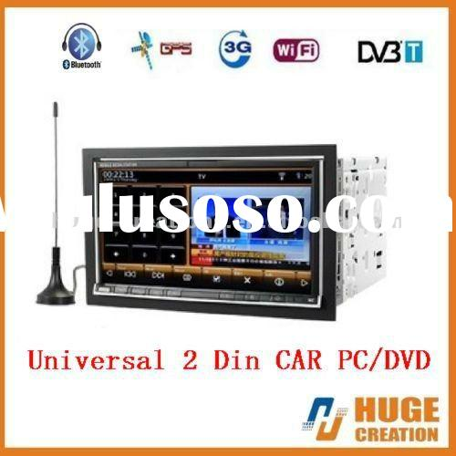 2012- Hot Sale Universal 2 din CAR PC DVD PLAYER with GPS WIFI TV