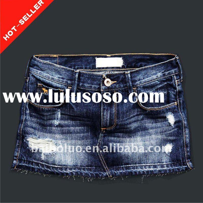 2012 New Design Ladies Denim Skirt From Garment Factory