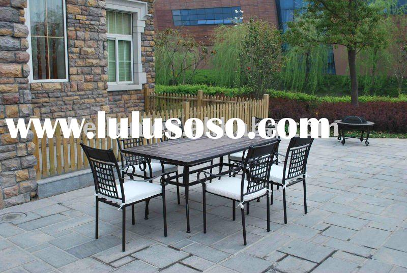 2012 new style dining set mosaic top outdoor furniture