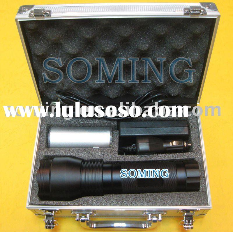 24W HID xenon flashlight 12V 2200mA/H 1500 lumens