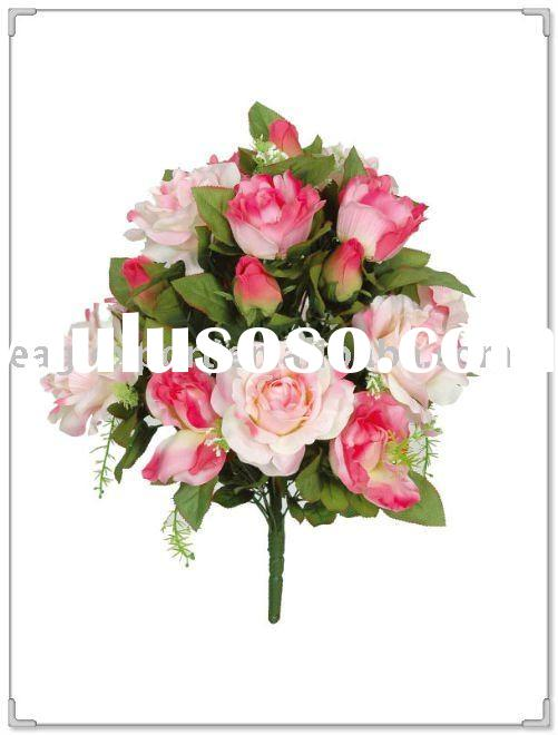 24heads ARTIFICIAL ROSE & HIBISCUS BUSHES