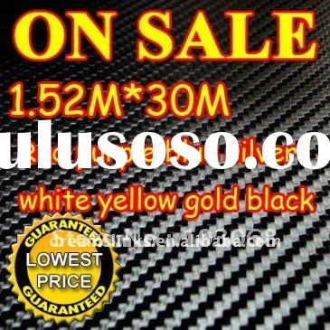 30M/LOT New 1.52X30M 3D Carbon Fiber Vinyl Car Sticker Guaranteed 100% PVC fiber car stickers 8 Colo