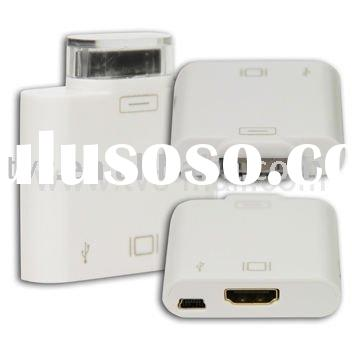 30 Pin to HDMI Conversion for iPad/iPhone/iPod Videos to HDTV/HD-Projector