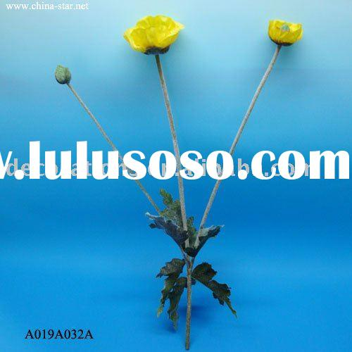 Single Opium Poppy Artificial Flower Bouquet For Sale