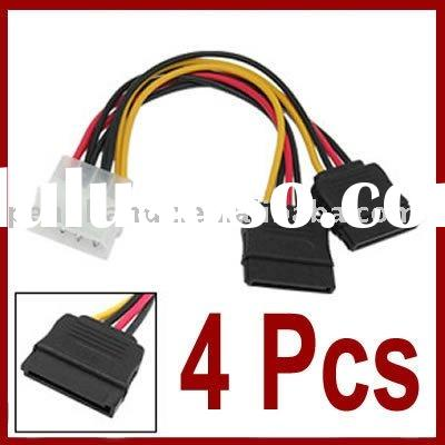 4X IDE to Serial ATA SATA Hard Drive Power Cable Converter