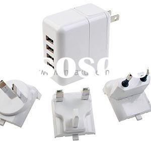 4ports USB charger multiple travel charger for PDA iphone ipod mobile phone MP3 MP4
