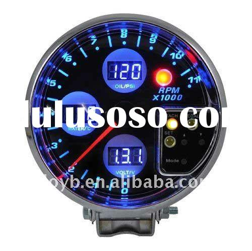 "5"" 4 in 1 digital auto meter/tachometer with ( water temp,oil pressure,volts)/auto gauge/car me"