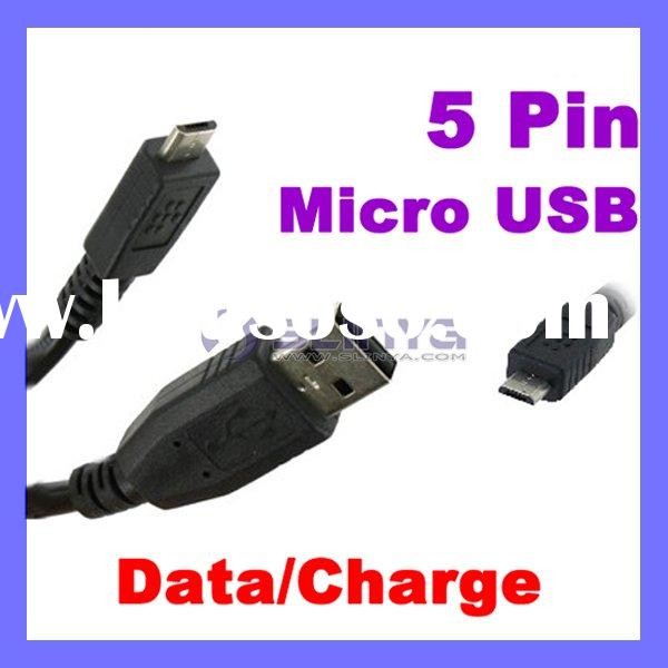 5 Pin Micro USB Cable for Mototola/Blackberry Mobile Phone
