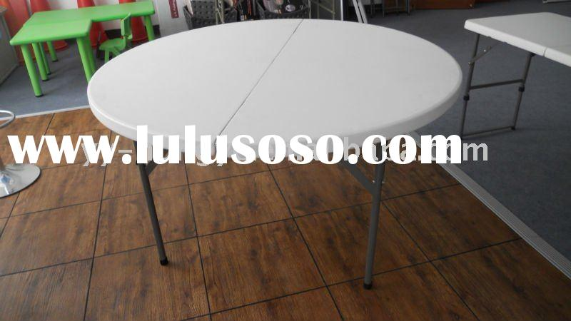 5ft Round Plastic Folding Table,outdoor round table,blow mould table