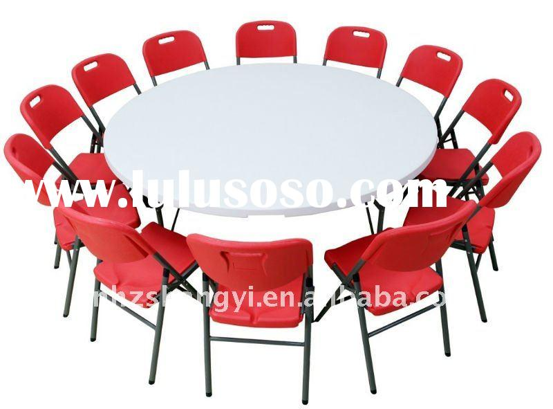 6ft modern folding round party table and chairs