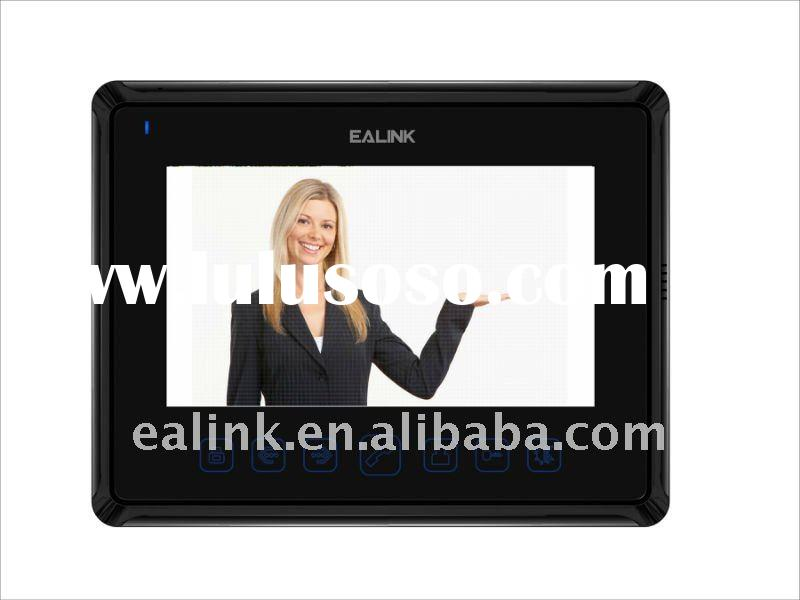 7 inch color video door phone with remote unlock function