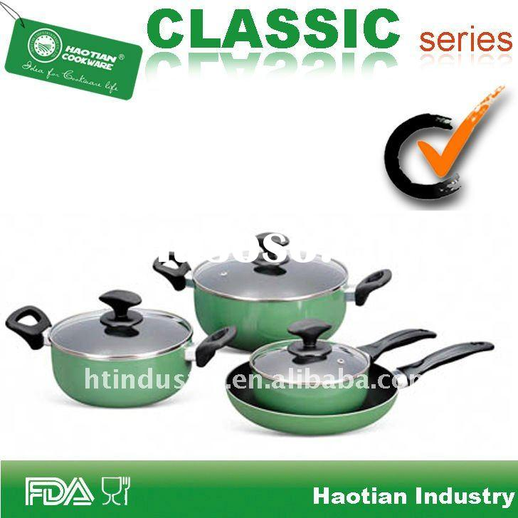 7 pcs Non stick Aluminum Cookware,Xylan non stick coating inside