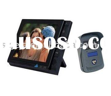 8''LCD Color Video doorbell intercom system with SD card,record and image capture.