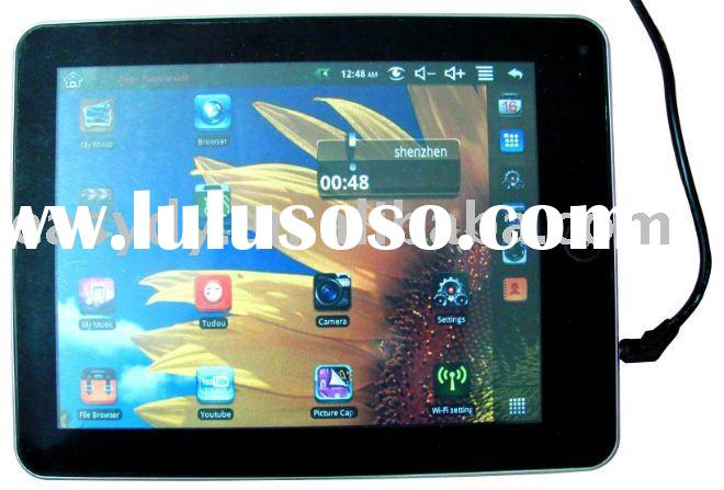 8 inch touch screen table pc with android 2.2 system