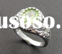 925 sterling silver with gemstone ring