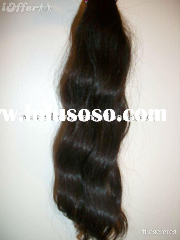 AAA quality unprocessed machine made bohemian weave hair