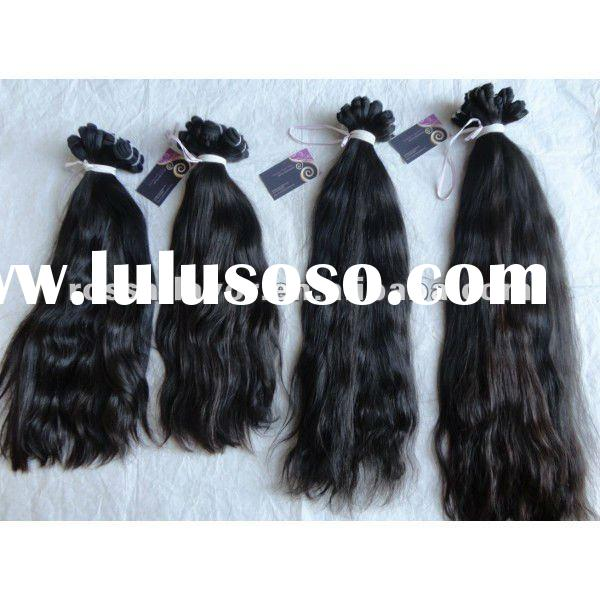 AAA quality unprocessed machine made brazilian fusion hair