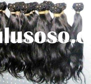 AAA quality unprocessed machine made cheap indian hair