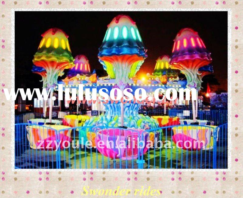 Amazing!New type fun fair equipment rides rotating jellyfish