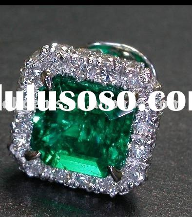 Amazing luxury green turquoise eternity gemstone rings