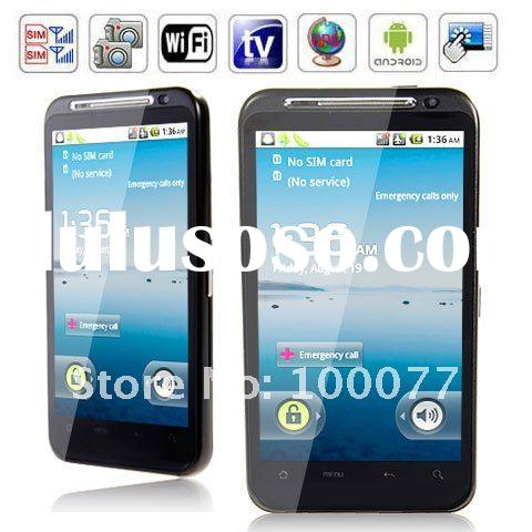 Android 2.3 Mobile 4.3'' Gsm Wifi GPS TV Dual Cards Touch Screen Smart Phone Black U
